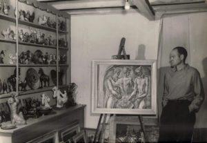 Lester in studio late 40s